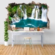 Adesivi da parete 3D cascate in Martin Brod