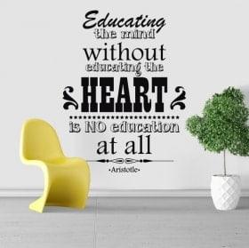 Adesivi frasi motivazionali Aristotele