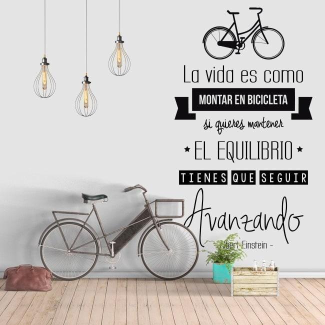 Adesivi Frase La Vita è Come Andare In Bicicletta