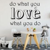 Adesivi testo do what you love
