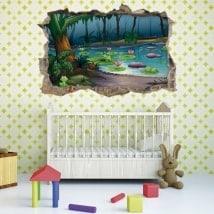 Adesivi 3D bambini foresta magica