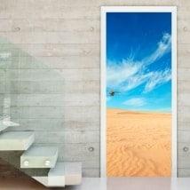 Adesivi delle porte deserti