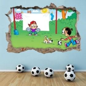 Adesivi 3D calcio per bambini
