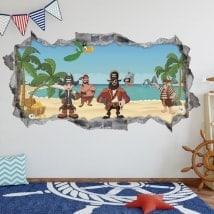 Adesivi 3D pirata dei Caraibi