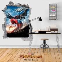 Adesivi 3D spiderman homecoming