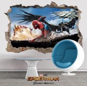 Adesivi da parete 3D spiderman homecoming