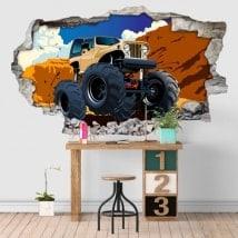 Adesivo in vinile 3D monster truck