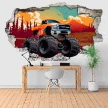 Vinili e autoadesivi 3D monster truck