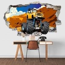 Adesivo della parete monster truck 3D