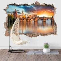 Adesivi da parete 3D Ponte Carlo di Praga