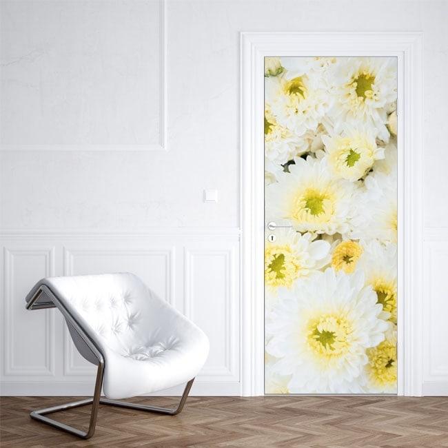 Fiori adesivi per porte - Adesivi decorativi per porte ...