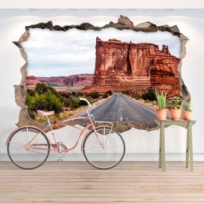 Adesivi da parete 3d parco nazionale degli archi for Adesivi da parete 3d