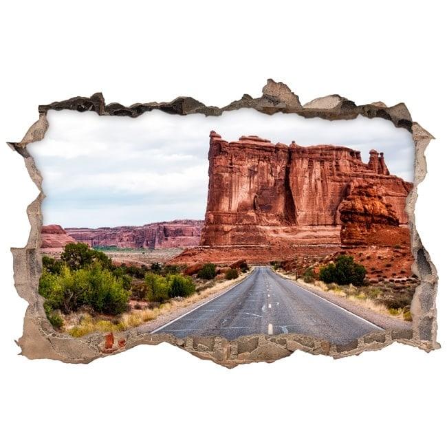 Adesivi da parete 3d parco nazionale degli archi for Adesivi parete 3d
