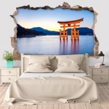 Adesivi murali Torii 3D