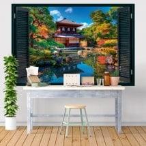 Finestre adesivi 3D Ginkaku-ji Kyoto Giappone