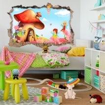 Bambini 3D adesivi mondo magico fata