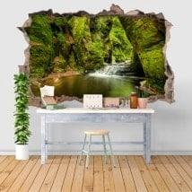 Adesivi da parete Finnich Glen Scotland 3D