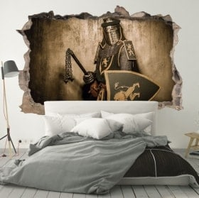 Adesivi guerriero medievale 3D