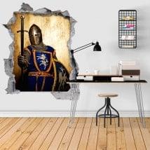 Guerriero medievale adesivi murali 3D