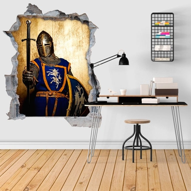 Guerriero medievale adesivi murali 3d for Adesivi murali 3d