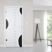 Retro cerchi adesivi delle porte