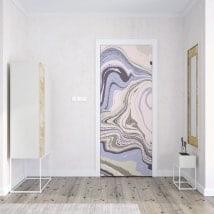 Porte di decorazione in vinile colori marmorei