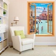 Finestre del vinile 3D di Venezia
