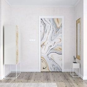 Vinile decorativo per porte marmo