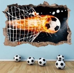 Adesivi di decorazione di obiettivo di calcio 3D
