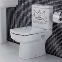 Vinile per i bagni la poltrona del re