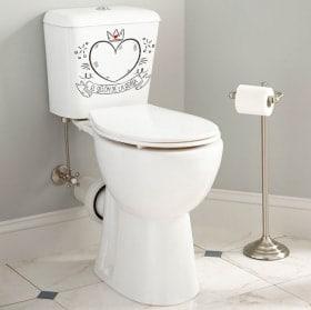Vinili per servizi igienici e bagni la poltrona della regina