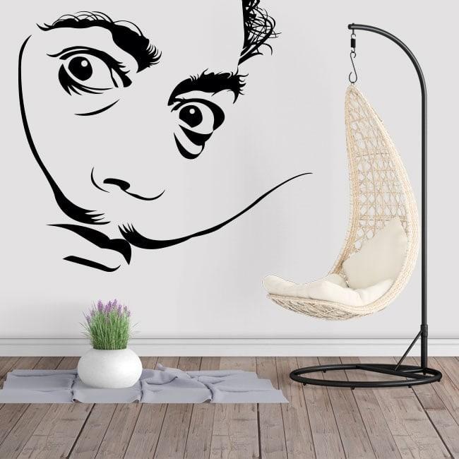 decalcomanie da muro salvador dal. Black Bedroom Furniture Sets. Home Design Ideas