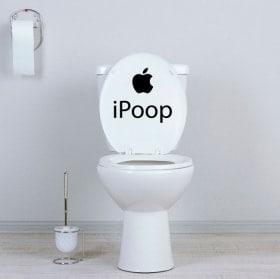 Decalcomanie per bagni e muri iPoop