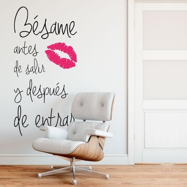 Adesivi da muro baciami prima di uscire