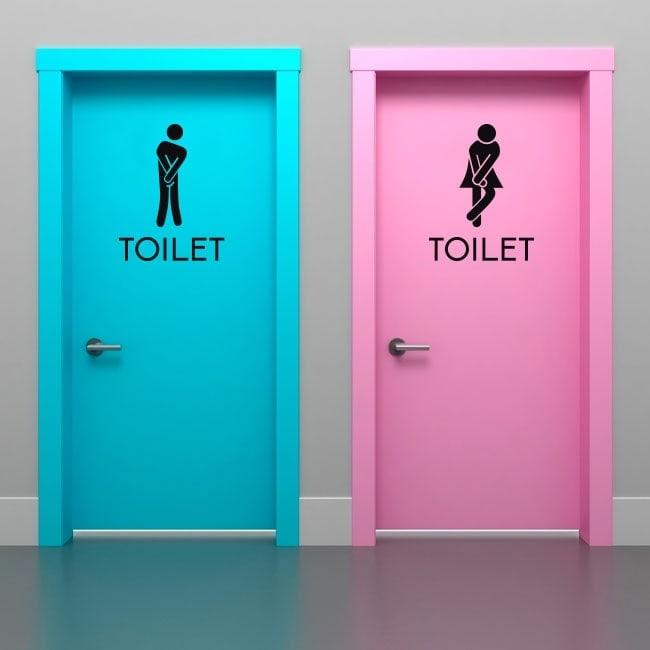 Vinile segnaletica per bagni e servizi igienici