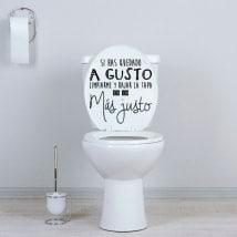 Vinili per bagni e servizi igienici se sei comodo