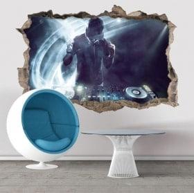Adesivi da parete DJ 3D