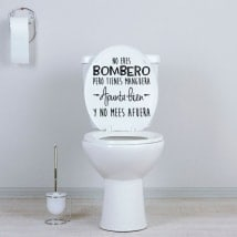 Vinili per bagni e toilette non sei un pompiere