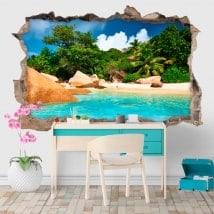 Vinili decorativi isola tropicale 3D