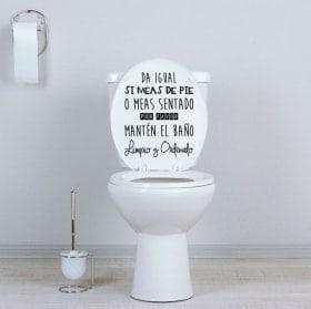 Vinili WC tenere il bagno pulito e ordinato