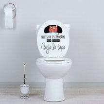 Vinile bagni mostro chiudere il coperchio WC