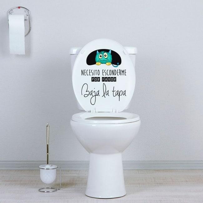 Vinile bagni mostro nascosto WC