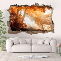 Adesivi da parete foresta in autunno 3D