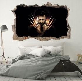 Adesivi da parete X-Men Origina Wolverine 3D