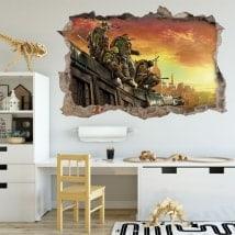 Adesivi da parete le tartarughe ninja 3D