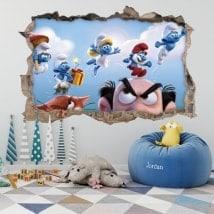Vinili e adesivi i Smurfs 3D
