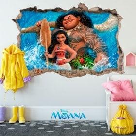 Adesivi da parete Disney Vaiana 3D