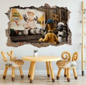 Adesivi da parete Shaun 3D pecore