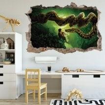 Adesivi da parete foro 3D il libro della giungla