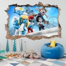 Adesivi murali i smurf 3D